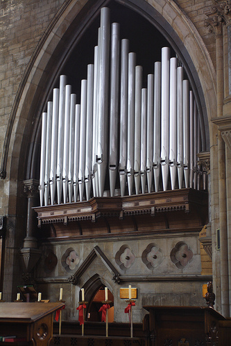 The Organ Case of the Church of All Saints, Nottingham