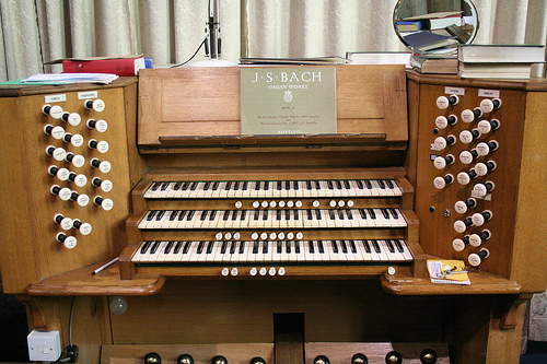 The Organ Console of the Church of All Saints, Nottingham