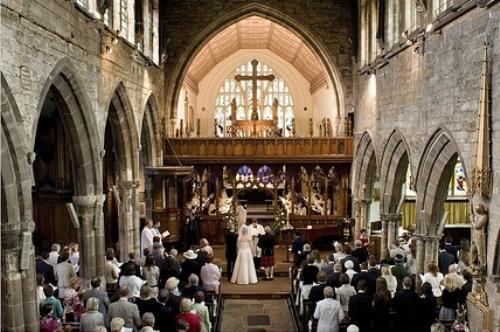 A wedding at St Peter's Church